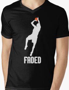 Faded - White Mens V-Neck T-Shirt