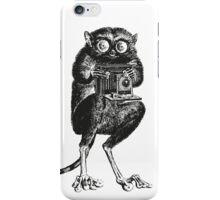 Say Cheese!   Tarsier with Vintage Camera iPhone Case/Skin