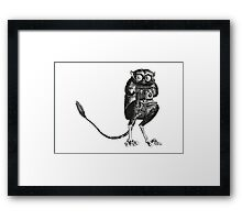 Say Cheese! | Tarsier with Vintage Camera Framed Print