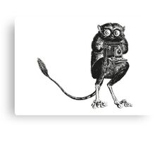 Say Cheese! | Tarsier with Vintage Camera Canvas Print