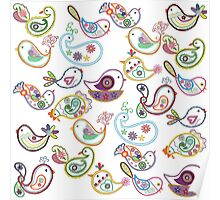 Paisley flock Poster