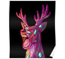 screaming deer Poster