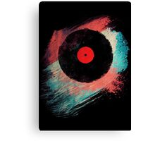 Vinyl Record - Modern Vinyl Records Grunge Design - Tshirt and more Canvas Print