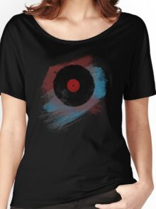 Vinyl Record - Modern Vinyl Records Grunge Design - Tshirt and more Women's Relaxed Fit T-Shirt
