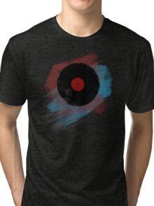 Vinyl Record - Modern Vinyl Records Grunge Design - Tshirt and more Tri-blend T-Shirt