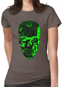 Gamer Skull CARTOON GREEN Womens Fitted T-Shirt