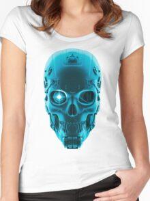 Gamer Skull BLUE TECH Women's Fitted Scoop T-Shirt