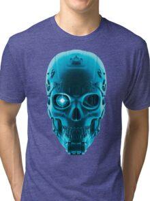 Gamer Skull BLUE TECH Tri-blend T-Shirt