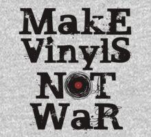 Make Vinyls Not War - Music and Peace DJ!   Kids Tee