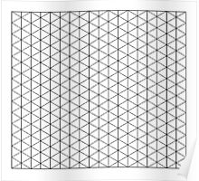 Isometric Grid. Poster