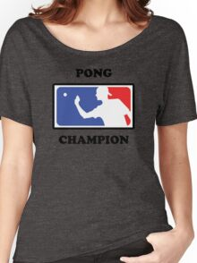 Pong Champion Women's Relaxed Fit T-Shirt