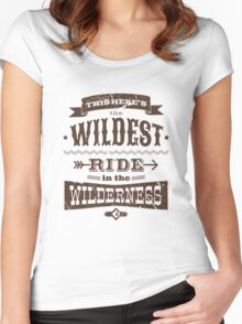 Big Thunder Mountain - Wildest Ride Women's Fitted Scoop T-Shirt