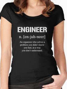 Definition of Engineer Women's Fitted Scoop T-Shirt