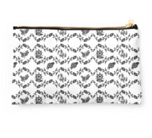 Floral Pattern with skulls moths and roses Studio Pouch
