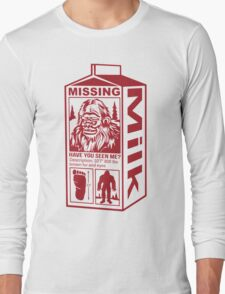Sasquatch Milk Carton Long Sleeve T-Shirt