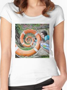 surreal spiral Women's Fitted Scoop T-Shirt