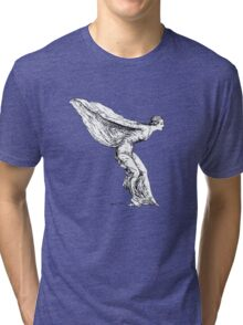 The Spirit of Ecstasy (Solid White) Tri-blend T-Shirt