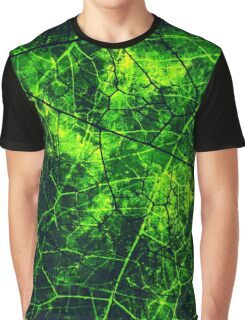Dark Blue and Green Cracked Lacquer Grunge Texture Graphic T-Shirt