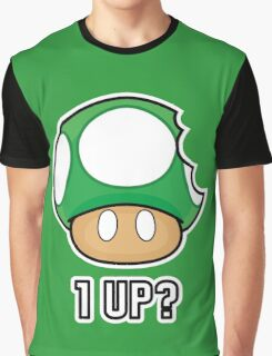 Super Mario, 1 UP Mushroom Graphic T-Shirt