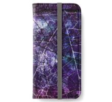 Purple, Blue, and Red Crackle Grunge Texture iPhone Wallet/Case/Skin