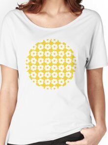 Retro Floral Women's Relaxed Fit T-Shirt