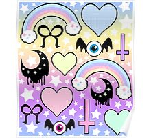 Pastel Goth Collage Poster