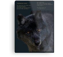 """Wilderness Wolf"" Metal Print"