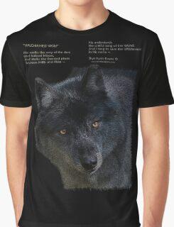 """""""Wilderness Wolf"""" Graphic T-Shirt"""