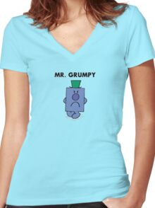 Mr Grumpy Women's Fitted V-Neck T-Shirt