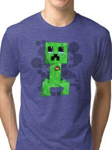 sad creeper ;-; Tri-blend T-Shirt