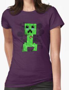 sad creeper ;-; Womens Fitted T-Shirt