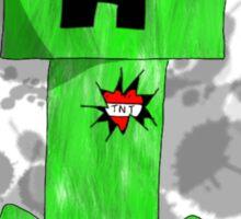 sad creeper ;-; Sticker