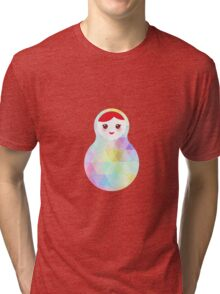 Matryoshka rainbow pastel colors Tri-blend T-Shirt