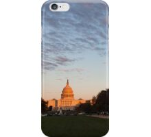 Soft Orange Glow - US Capitol and the National Mall at Sunset iPhone Case/Skin