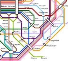 Rail Map of Gensokyo Sticker