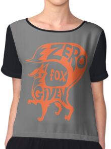 Zero Fox Given Chiffon Top