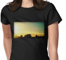 Sunset in Delta Womens Fitted T-Shirt