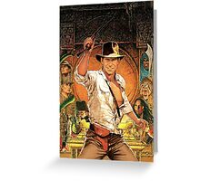 Raiders of The Lost Ark Movie Greeting Card