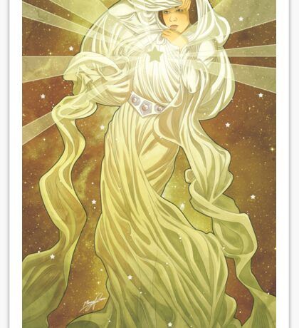 Lady of Light II Sticker