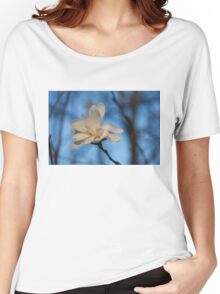 Creamy, Dreamy Wild Magnolia in the Forest Women's Relaxed Fit T-Shirt