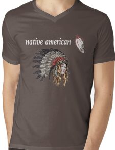 Native American Mens V-Neck T-Shirt