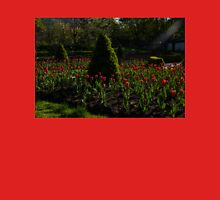 Downtown Victorian Garden - Red Tulips and Sunshine Womens Fitted T-Shirt