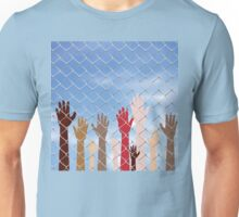 Hands Behind a Wire Fence 2 Unisex T-Shirt
