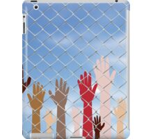 Hands Behind a Wire Fence 2 iPad Case/Skin