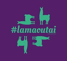 Lamaoutai - where are you lama? Women's Fitted V-Neck T-Shirt
