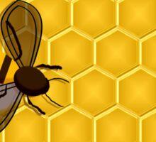 Honeybee on a Honeycomb Sticker