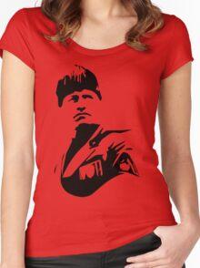 An Italian Politician Women's Fitted Scoop T-Shirt