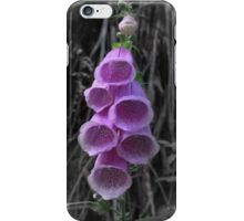 Purple bulbous flower - White background iPhone Case/Skin