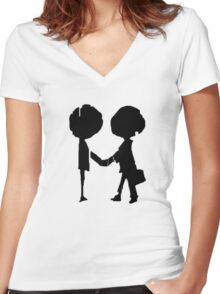 Radiohead - Black  Women's Fitted V-Neck T-Shirt