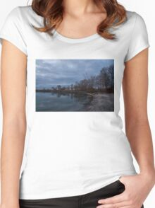 Early, Still and Transparent - on the Shores of Lake Ontario in Toronto Women's Fitted Scoop T-Shirt